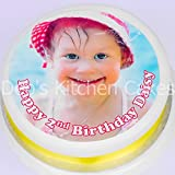 """Debs Kitchen Cakes Photo Icing Cake Topper 7.5 """"/ 19cm round made from Edible Icing"""
