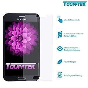 TouffTek TMN4A Samsung Galaxy Note 4 Premium HD Clear Tempered Glass Screen Protector, 99.99% Accuracy - 0.3mm - 2 Piece