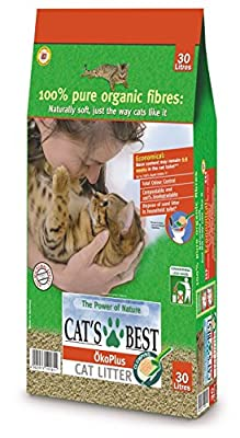 Cats Best Wood Litter Okoplus Clumping Oko Plus Cat Litter, 30 Liter