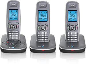 BT 7500 Cordless DECT Phone with Answer Machine (Pack of 3)