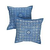 "Rajrang Home Furnishing Décor Cushion Cover Pillow 16"" X 16'' Blue - B00SMY19MO"
