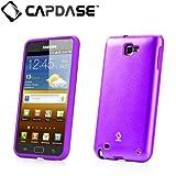 【ストラップホールつき】CAPDASE docomo GALAXY Note SC-05D Alumor Metal Case with Screen Protector, Purple アルマー・メタルケース アルミニウム・プロテクトカバー (クリスタル・クリアー 液晶保護シート付き) パープル MTSGN7000-5155