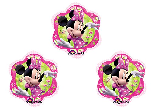"Minnie's Bowtique Minnie Mouse Flower Shaped 18"" Mylar Balloon 3pk - 1"