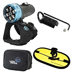 Light & Motion Sola Dive 800 LED Light with D-ring clip and Float Strap