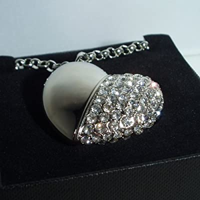 Heart shaped 4gb usb memory stick decorated with Crystals! Crystal Color : Crystal from Pizazz