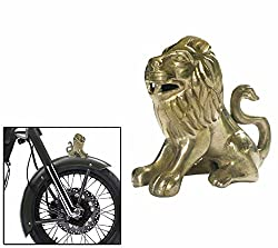 Speedwav Brass Sitting Lion Bike Front Fender Decorative-Royal Enfield-U