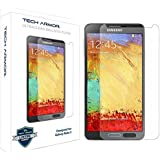Tech Armor Samsung Galaxy Note 3 Premium Ballistic Glass Screen Protector - Protect Your Screen from Scratches and Drops - Maximize Your Resale Value - 99.99% Clarity and Touchscreen Accuracy