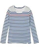 Petit Bateau - T-shirt - À rayures - Manches longues - Femme