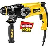 Advanced DeWalt D25123K SDS Plus Hammer Drill 3 Mode 800w 110v with 1/2