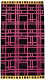 Northpoint Kerala Oversized Double Jacquard Plush Velour Beach Towel 40 by 70-Inch Onam Festival Hot Pink Maze