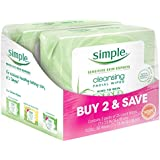 Simple Cleansing Facial Wipes 25 ct, Twin Pack