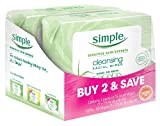 Simple Cleansing Facial Wipes, Kind to Skin 25 Count, Twin...