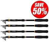 KastKing BlackHawk Telescopic Fishing Rods - Travel Spinning Fishing Rods fro Freshwater and Saltwater - 2015 ICAST Award Winning Manufacturer -[UP TO 60% OFF! Holiday Sale] (BlackHawk Rod, 6'10'')