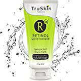 BEST ORGANIC Retinol Face Cream MOISTURIZER to Reduce Wrinkles - 2.5% Vitamin A + Hyaluronic Acid, Vitamin E, B5, Jojoba, Green Tea - Best with TruSkin Naturals Vitamin C Anti-Aging Skincare Serum