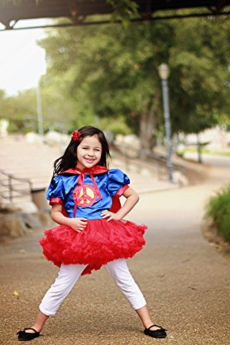 Girls Superman Costume Tutu Dresses with Cape