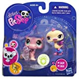 Littlest Pet Shop 2 Pack Collectible Figure Hippo & Ostrich #1415 & #1416