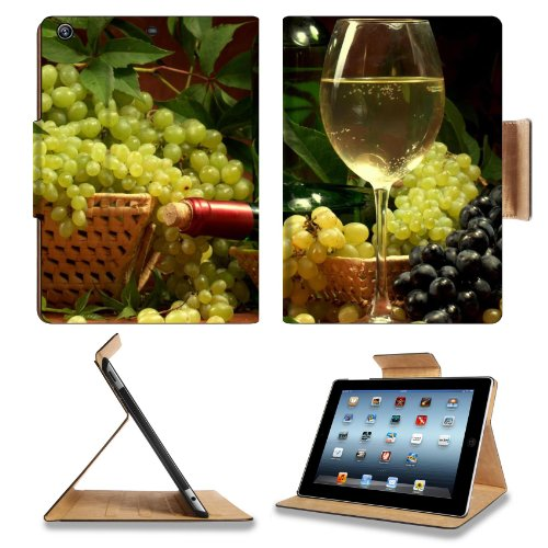 Green Red Grapes Champagne Beverage Apple Ipad Air Retina Display 5Th Flip Case Stand Smart Magnetic Cover Open Ports Customized Made To Order Support Ready Premium Deluxe Pu Leather 9 7/16 Inch (240Mm) X 7 5/16 Inch (185Mm) X 5/8 Inch (17Mm) Msd Ipad Pro front-580205