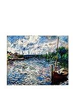 Especial Arte Lienzo La Seine à Chatou  Multicolor