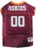 Pets First Collegiate Virginia Tech Dog Mesh Jersey, Large