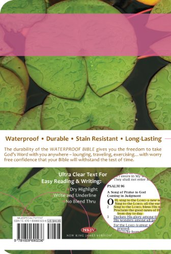 Image of Waterproof Bible - NKJV - Lily Pad