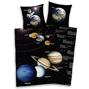 Herding fun collection 445180077 39 solar system 39 bed sheet for Solar system fleece