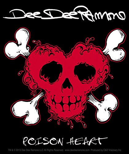 C&D Visionary Dee Dee Ramone Poison Heart Sticker