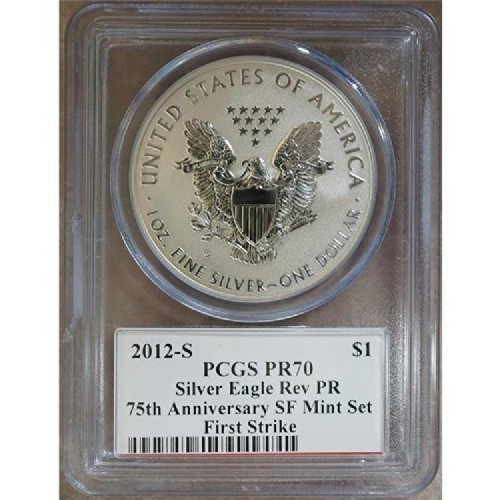2012 S American Silver Eagle Mercanti 75th Anniversary SF Mint Set Dollar PCGS PR70 Reverse Proof (Bridge Label)