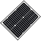 ALEKO SP20W12V Solar Panel Monocrystalline 20W for any DC 12V Application