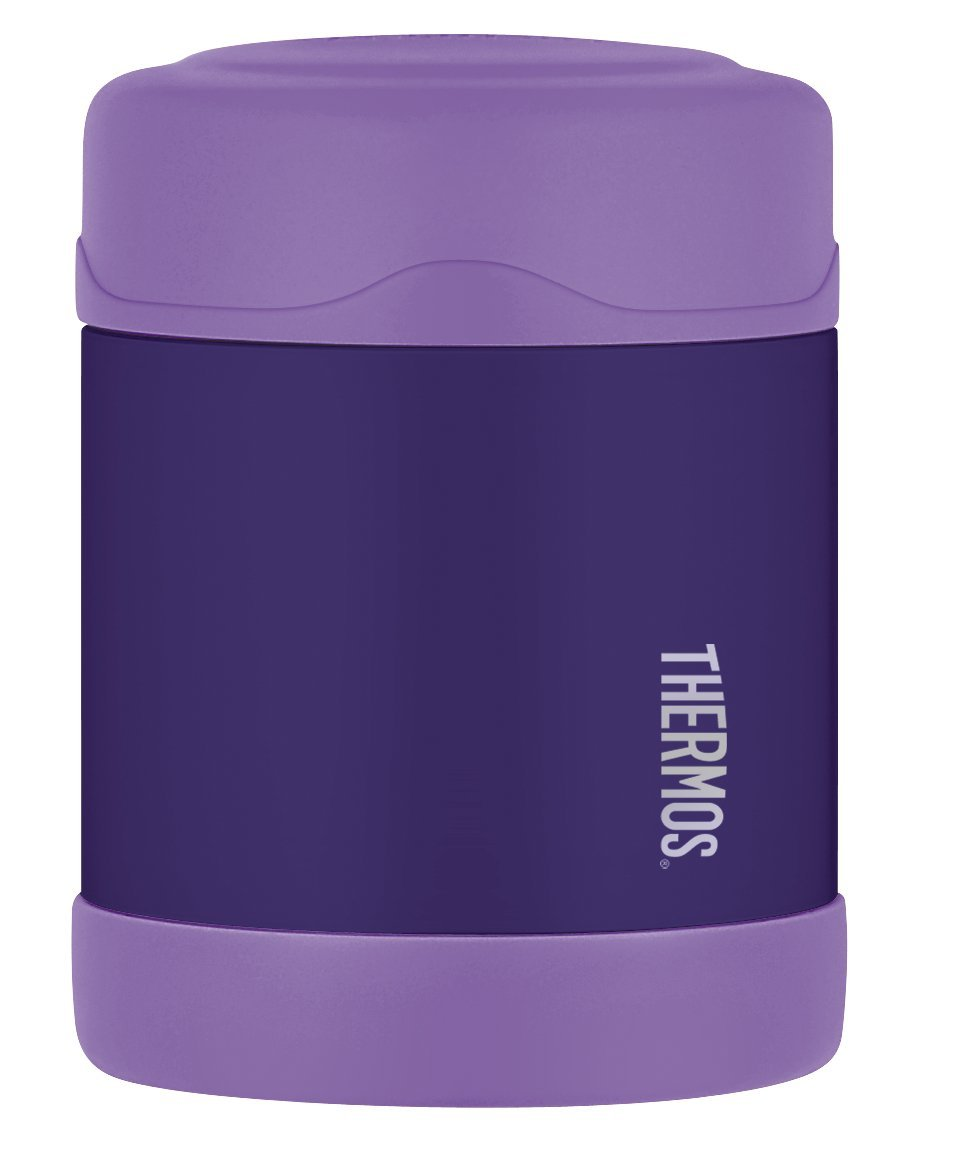 thermos funtainer food jar container insulated drink bottle keeps warm purple ebay. Black Bedroom Furniture Sets. Home Design Ideas