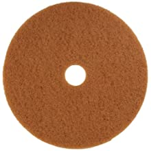 "Glit 13323 TK Polyester Blend Tan Buff Polishing Floor Pad, Synthetic Blend Resin, Talc Grit, 23"" Diameter, 175 to 350 rpm (Case of 5)"