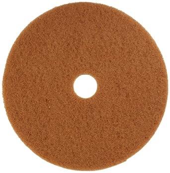 "Glit 13323 TK Polyester Blend Tan Buff Polishing Floor Pad, Synthetic Blend Resin, Talc Grit, 23"" Diameter, 175 to 350 rpm (Case of 5)"