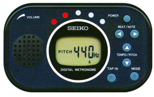 Seiko DM100BE Digital Metronome Black Metronome