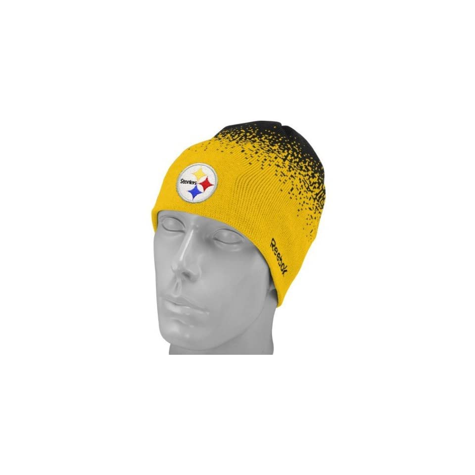 Mens Pittsburgh Steelers Fadeout Sideline 2nd Season Player Knit Cap ... 04fea4664