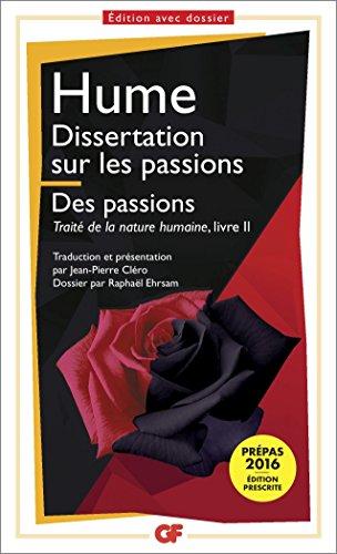 Dissertation sur les passions Edition prescrite