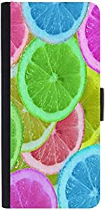 Snoogg Citrus Refreshdesigner Protective Flip Case Cover For Samsung Galaxy A8