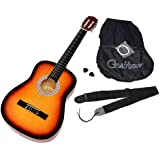 ts Classical Acoustic Guitar in Sunburst with Starter Package: Bag, Spare Strings and Belt