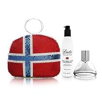 Hot Sale Laila by Laila for Women 3 Piece Set Includes: 3.4 oz Eau de Parfum Spray + 8.0 oz Hand & Body Cream + Norway's Flag Bag Purse