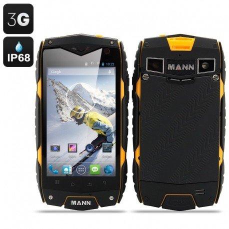 MANN-ZUG-3-Smartphone-Android-43-OS-Display-da-4-pollici-impermeabile-antiurto-polvere-prova-giallo
