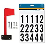 Mailbox Flag Complete Replacement Kit - Includes Flag, Screws and Number Stickers - Universal Design Works for Brick, Metal, Stone, Wood and All Other Surfaces - Super Easy Installation