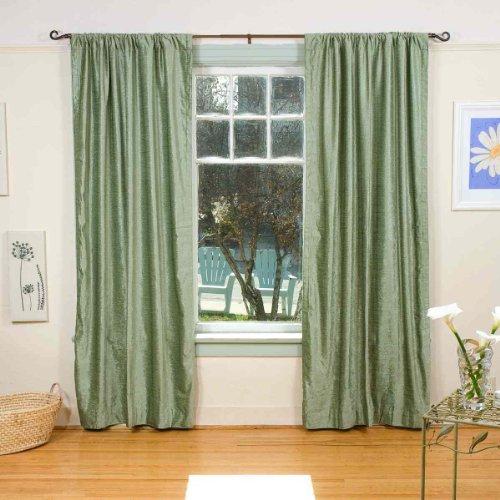 Olive Green Rod Pocket Velvet Curtain / Drape / Panel
