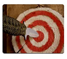 buy Msd Natural Rubber Gaming Mousepad Accurately Throw Throwing Knife Was Aimed Directly At The Center Of The Target Image 29989792
