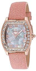 Invicta 17287 Women's Angel Quartz Morganite Bezel Stingray Strap Watch
