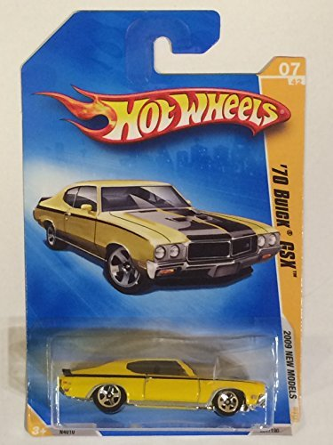 Hot Wheels 2009 New Models '70 BUICK GSX 007/190 Yellow Collectible Car
