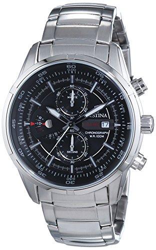 Festina F6823/4 - Reloj cronógrafo de cuarzo para hombre con correa de acero inoxidable, color plateado