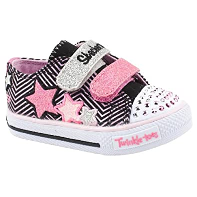 Skechers Girls Twinkle Toes Multicoloured Canvas Shoes Size 9