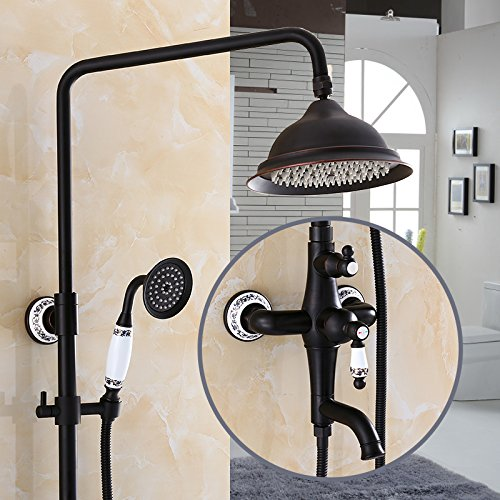 booster noir salle de bain douche robinet robinet r tro noir ascenseur antique cuivre douche. Black Bedroom Furniture Sets. Home Design Ideas