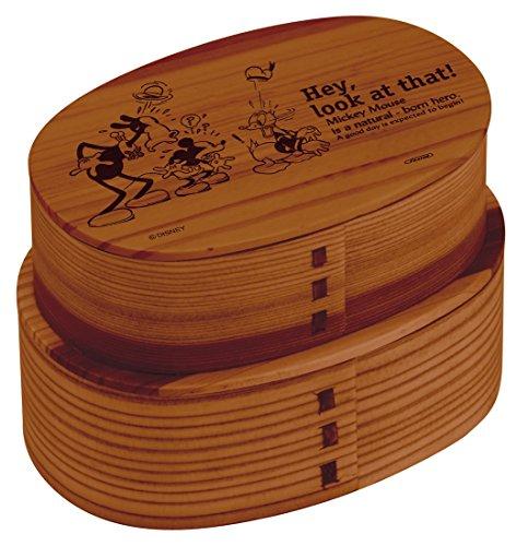 スケーター 曲げわっぱ 小判 2段 弁当箱 ミッキー ディズニー WLWB1