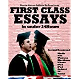first class essays Database of free nursing essays - we have thousands of free essays across a wide range of subject areas sample nursing essays.