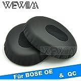 WEWOM 2 Hochwertige Ersatz Ohrpolster für BOSE OE OE2 OE2i QuietComfort 3 QC3 Kopfhörer inkl. Halterung