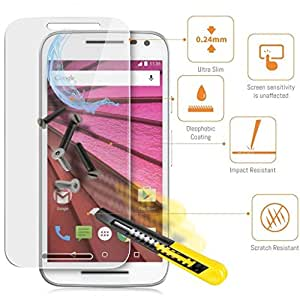 Generic 2.5D Curved Edge Crystal Clear, 9H Hardness Tempered Glass Screen Protector For Motorola Moto X Style